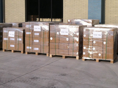 The cartons willl be in boxes & pallets, with packing film & belts