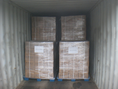 Finally in pallets, with packing film & belt, for safe transport