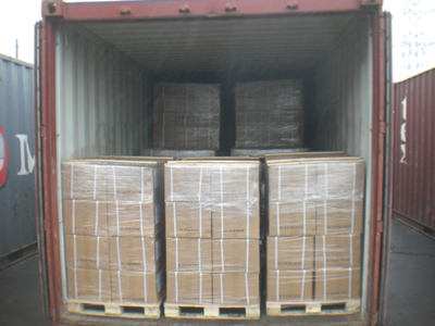 Foils in cartons, then in pallets