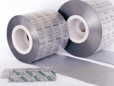 Laminated film of aluminum & plastic, for strip pack
