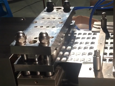 Forming station on the PVC or Alu-Alu