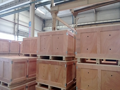 wooden cartons ready for shipment